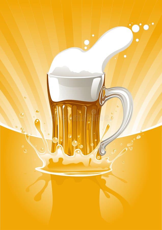 Het verse bier van de mok royalty-vrije illustratie
