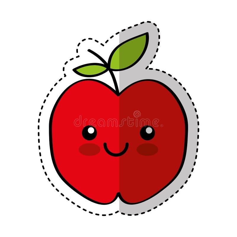 Het verse fruit grappig karakter van Apple royalty-vrije illustratie