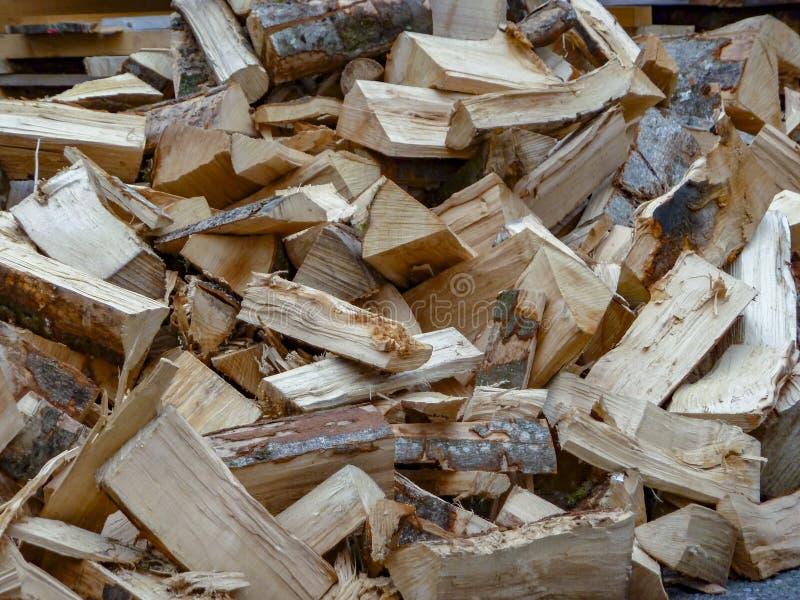 Het verse hout van de besnoeiingsbrand stock afbeeldingen