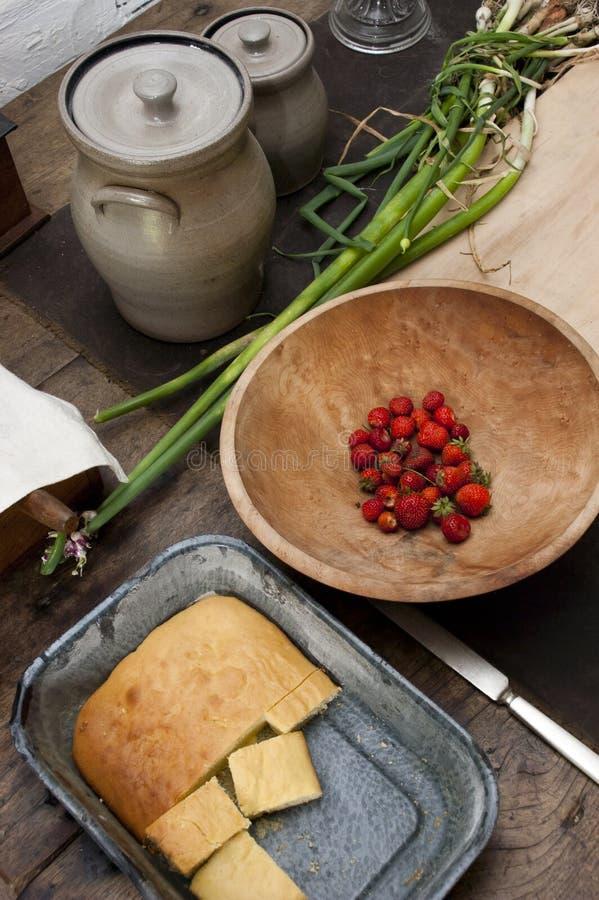 Het verse Koken van het Huis van het Land, Eigengemaakt op het Landbouwbedrijf royalty-vrije stock foto