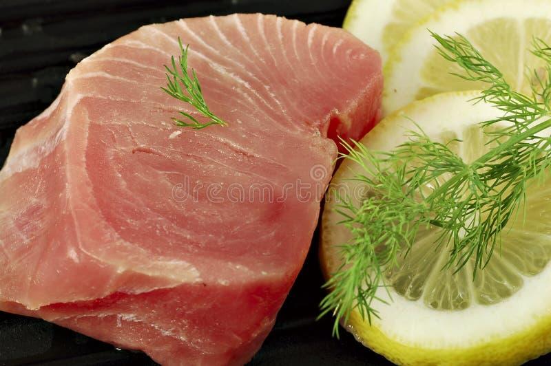 Het verse Lapje vlees van de Tonijn stock fotografie
