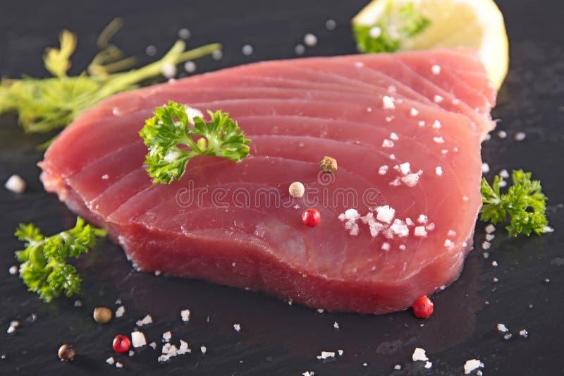 Het verse Lapje vlees van de Tonijn royalty-vrije stock afbeeldingen