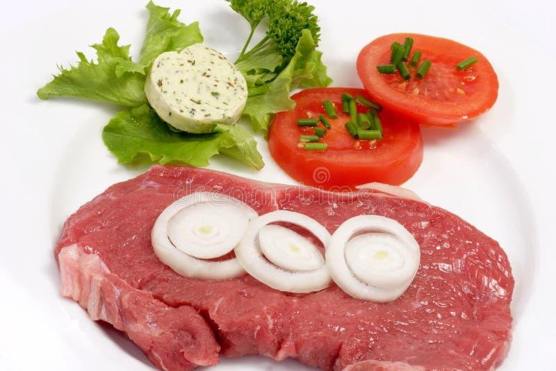 Het verse Lapje vlees van het Achterdeel stock afbeelding