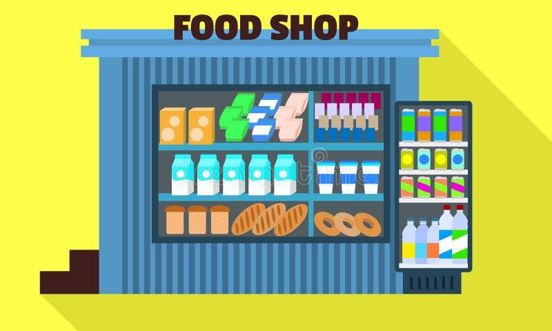 Het verse pictogram van de voedselwinkel, vlakke stijl vector illustratie