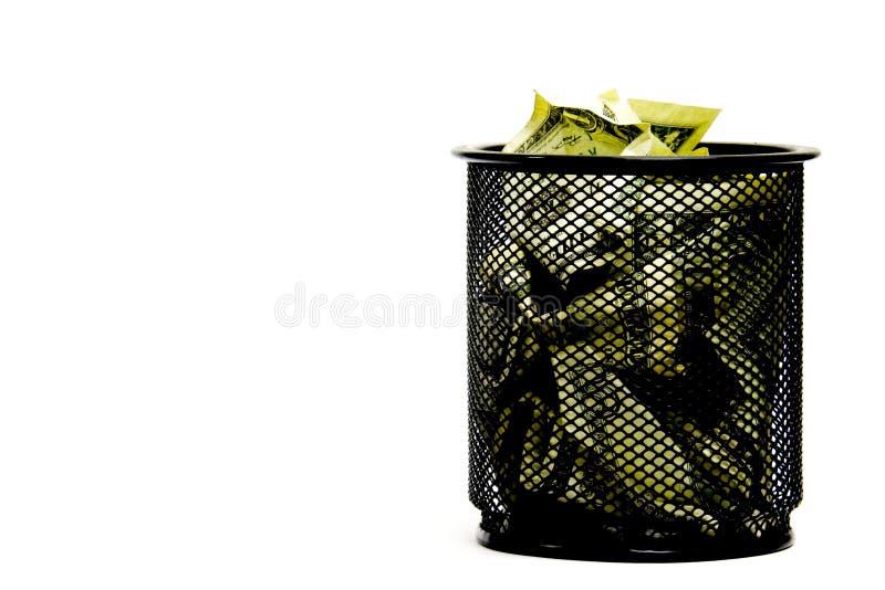 Het verspillen van geld royalty-vrije stock afbeelding