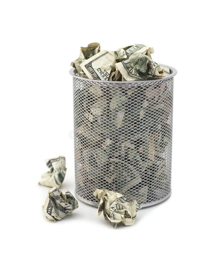 Het verspillen van Geld royalty-vrije stock foto's