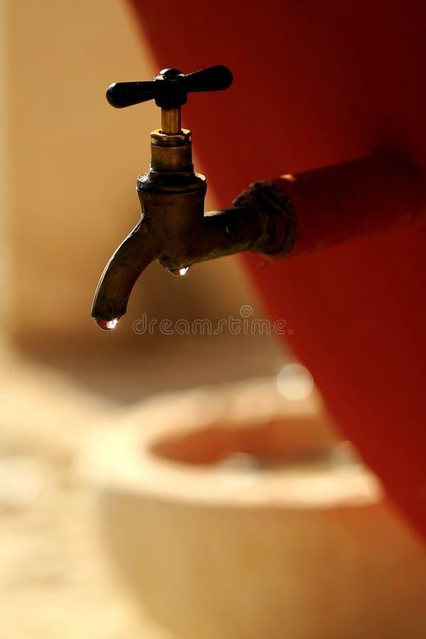 Het verspillen van Water stock afbeeldingen