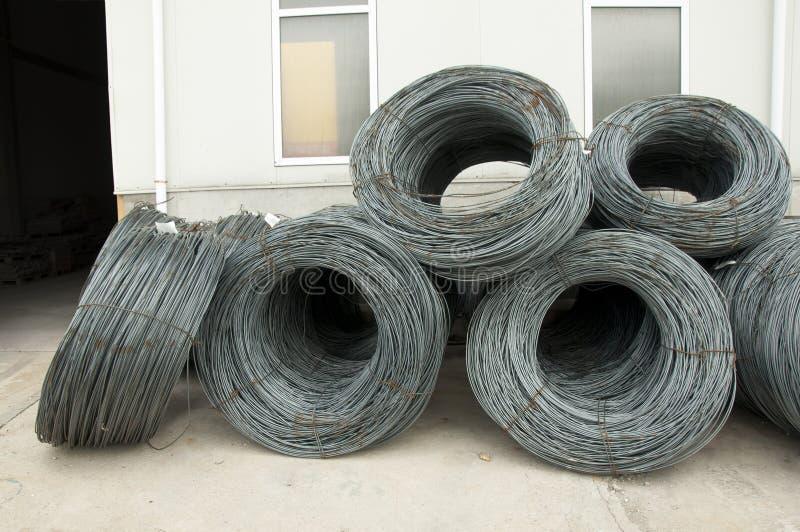 Het versterken van staalstaven stock fotografie