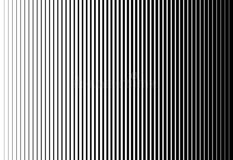 Het verticale halftone te verdunnen patroon van de snelheidslijn dik Vector illustratie stock illustratie