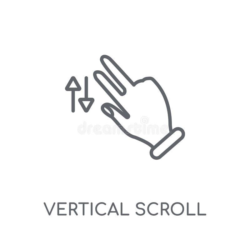 Het verticale lineaire pictogram van het Rolgebaar Moderne overzichts Verticale Scr royalty-vrije illustratie