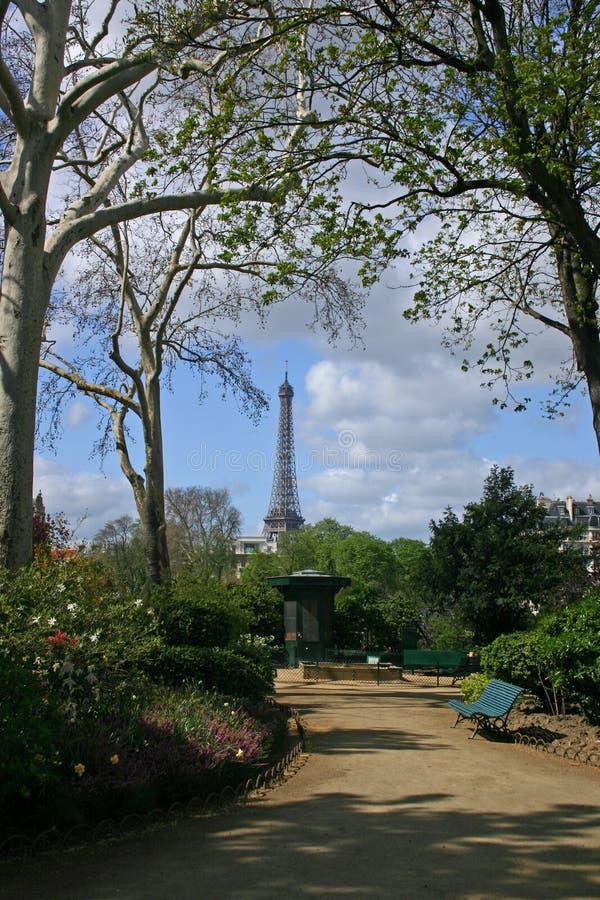 (Het Verticale) Park van Parijs stock afbeelding