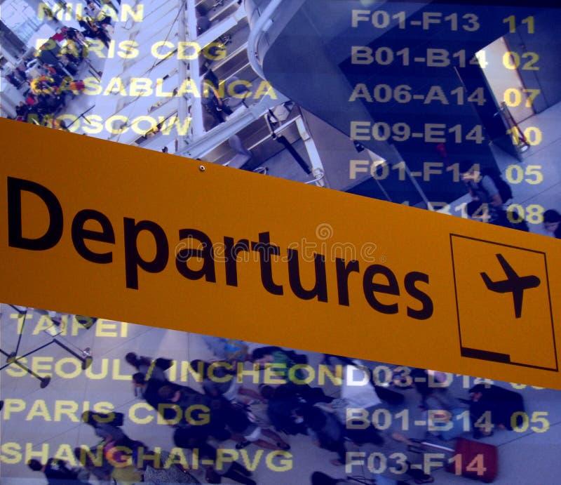 Het vertrek van de luchthaven royalty-vrije stock afbeelding
