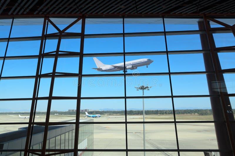 Het vertrekken van de vlucht stock afbeelding