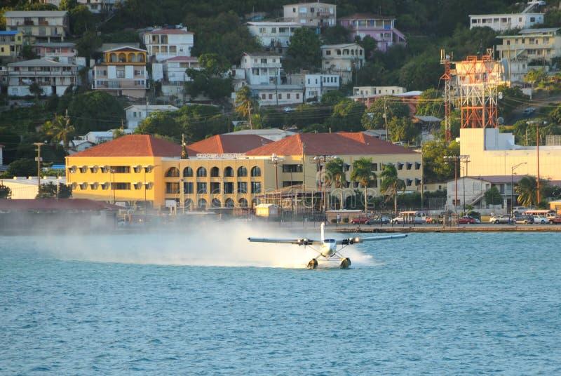 Het vertrekken van het watervliegtuig royalty-vrije stock foto's