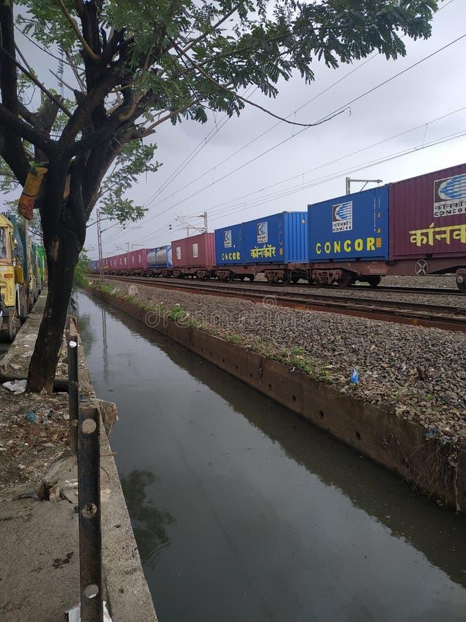 Het vervoer trine knap van Indinspoorwegen royalty-vrije stock fotografie