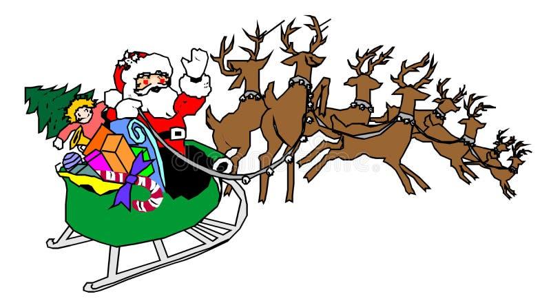 Het vervoer van de kerstman royalty-vrije stock afbeeldingen