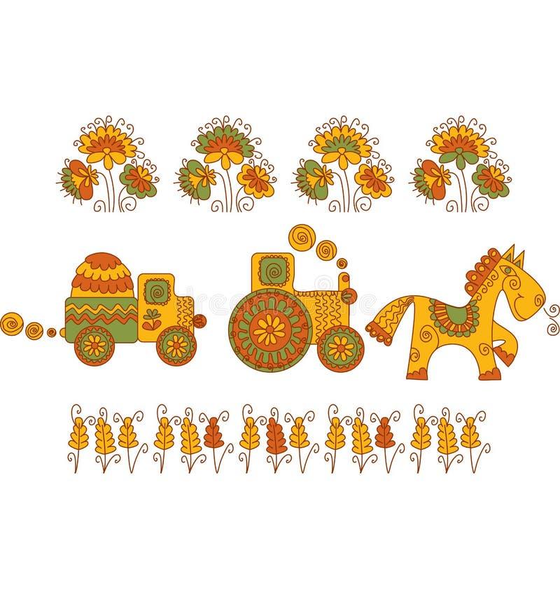 Het vervoer van de landbouw stock illustratie