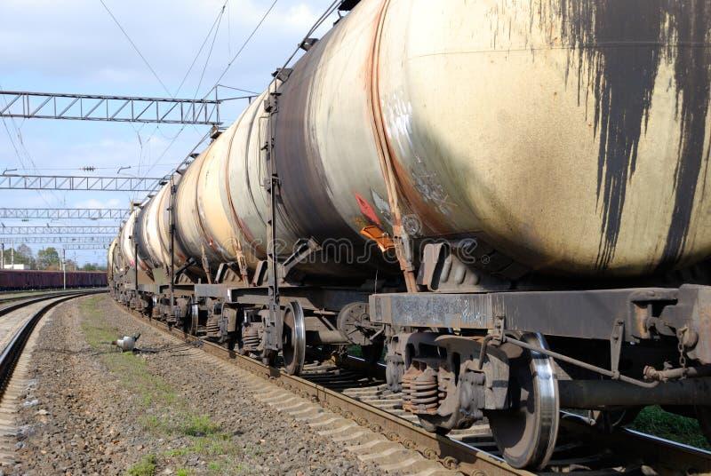 Het vervoer van de olie en van de brandstof per spoor royalty-vrije stock foto