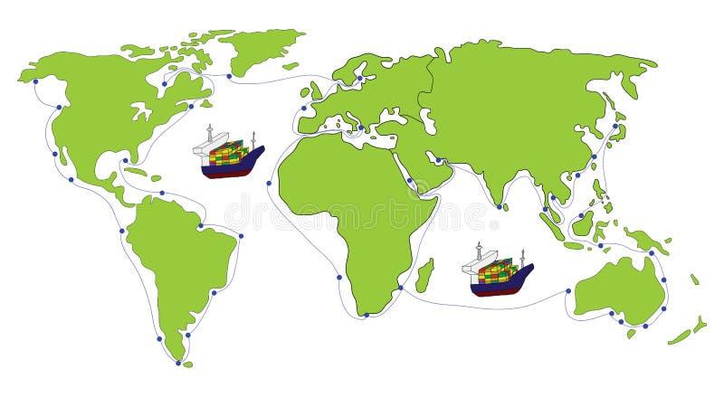 Het Vervoer van de vracht vector illustratie