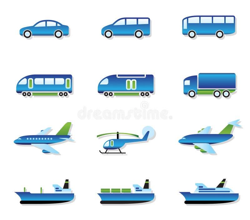 Het vervoer van de weg, van de lucht, van het spoor en van het water vector illustratie
