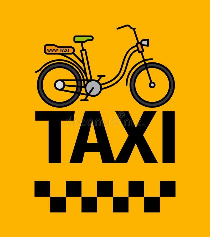 Het vervoeraffiche van de fietstaxi royalty-vrije illustratie