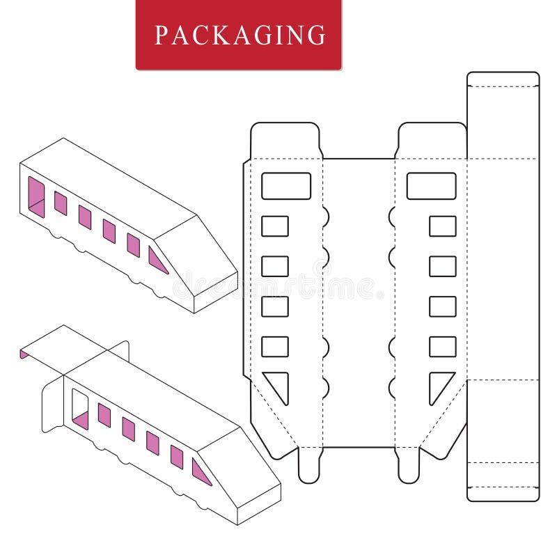 Het vervoersconcept van het pakketmalplaatje stock illustratie