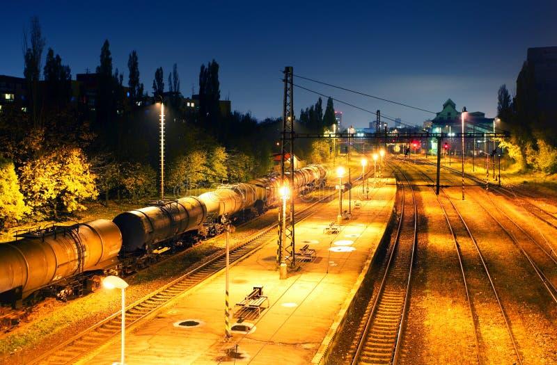 Het vervoersplatform van de Vracht van de trein - de doorgang van de Lading royalty-vrije stock afbeelding