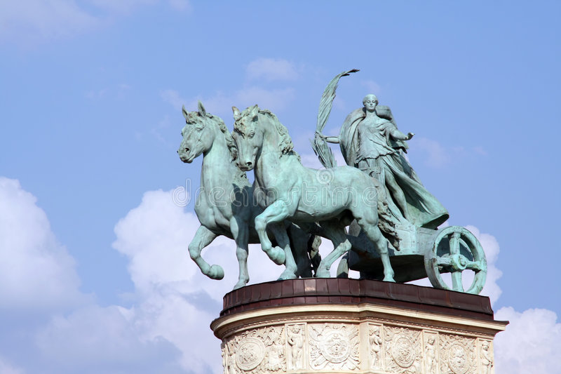 Het vervoerstandbeeld van het brons royalty-vrije stock afbeeldingen