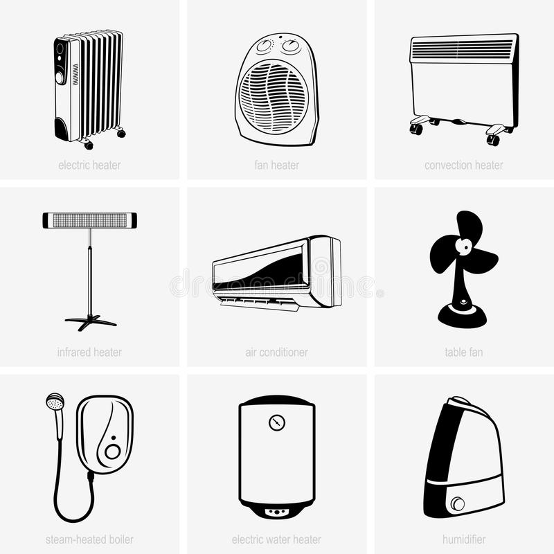 Het verwarmen en airconditioning vector illustratie