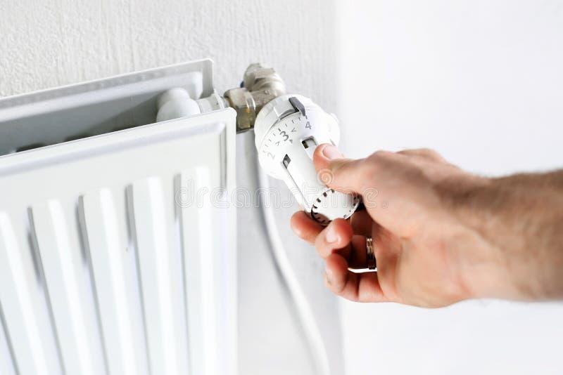 Het verwarmen, radiator stock fotografie