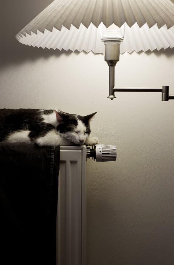 Het verwarmen verlichtingshuis royalty-vrije stock afbeelding