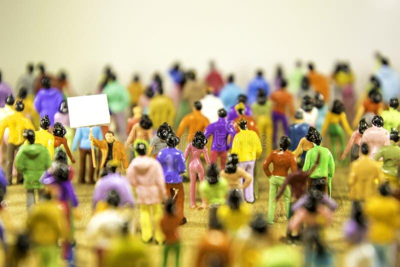 Het Verzamelen zich van Protestors stock afbeelding