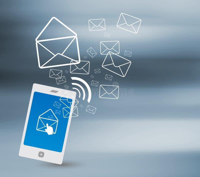 Het verzenden van SMS royalty-vrije illustratie