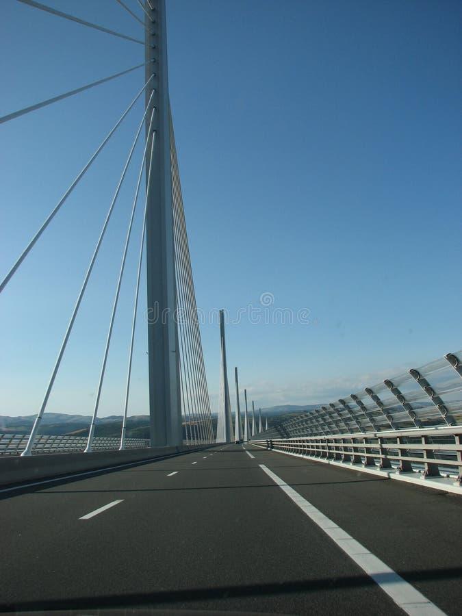 Het Viaduct Frankrijk van Millau stock foto