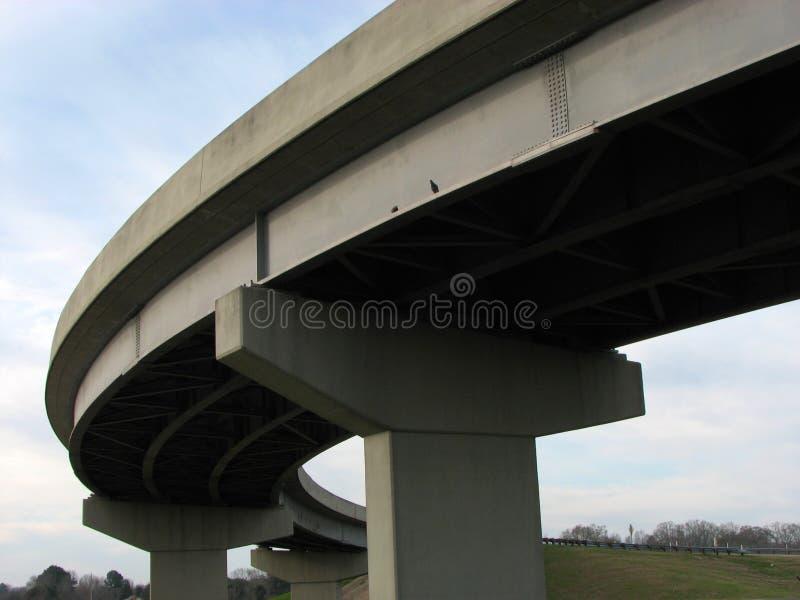 Het viaduct van de weg stock afbeeldingen