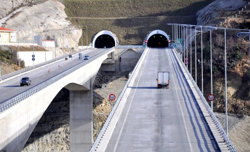 Het viaduct van de weg stock foto's
