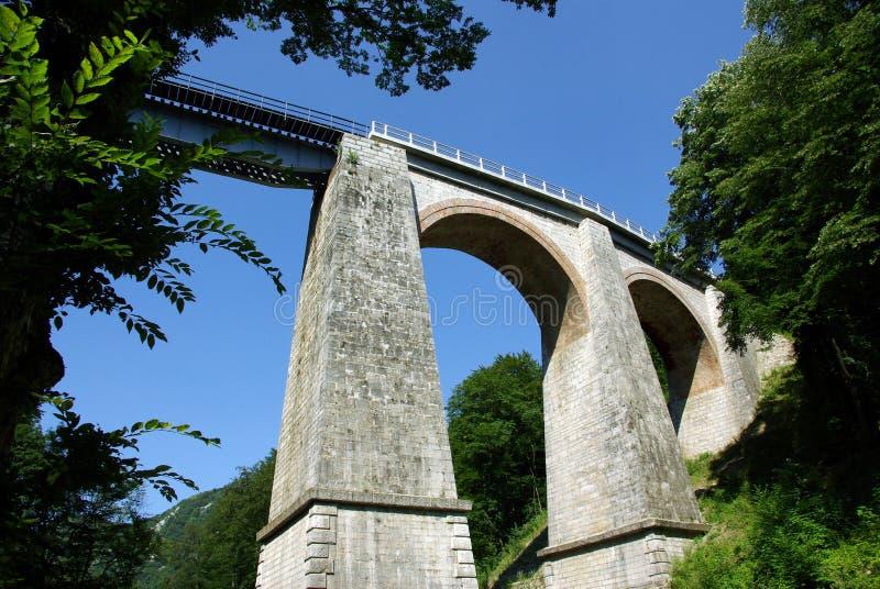Het viaduct van Jitin - Roemenië stock fotografie