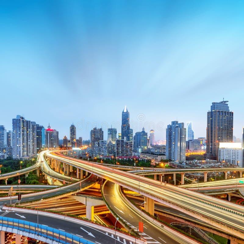 Het viaduct van Shanghai royalty-vrije stock fotografie