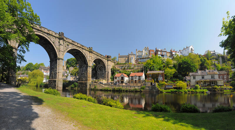 Het Viaductpanorama Van Knaresborough, Engeland Royalty-vrije Stock Foto's