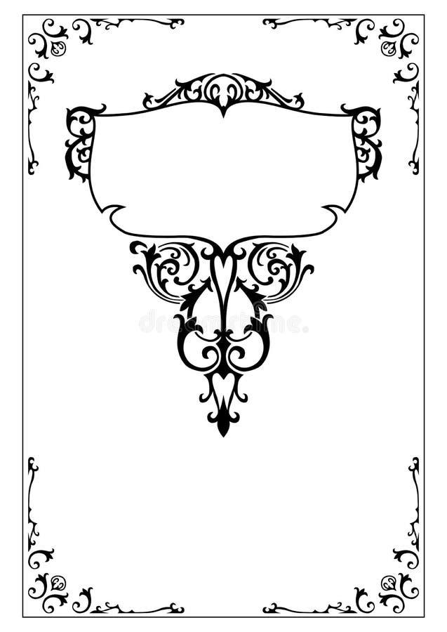 Het Victoriaanse overladen ontwerp elemen royalty-vrije illustratie