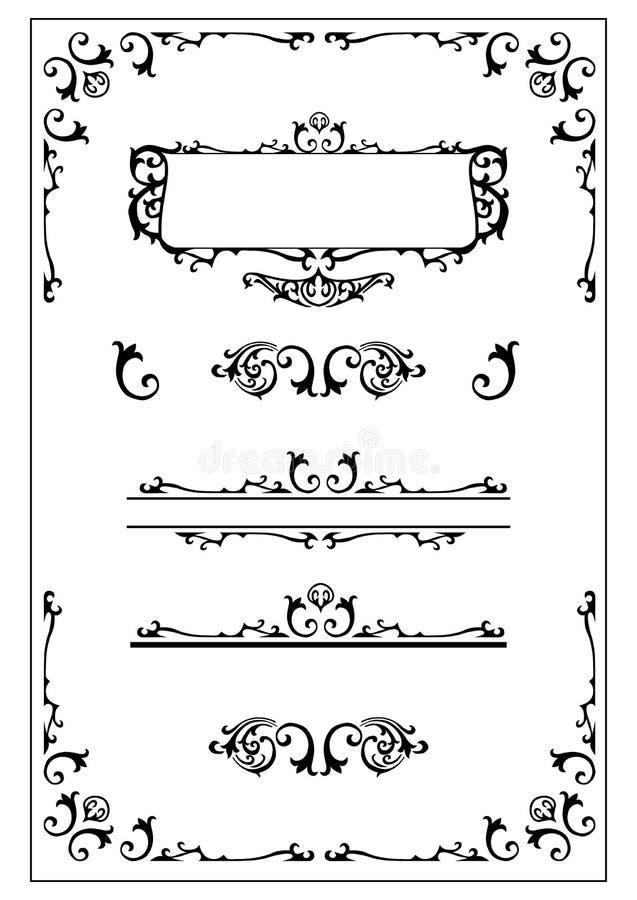 Het Victoriaanse overladen ontwerp elemen stock illustratie