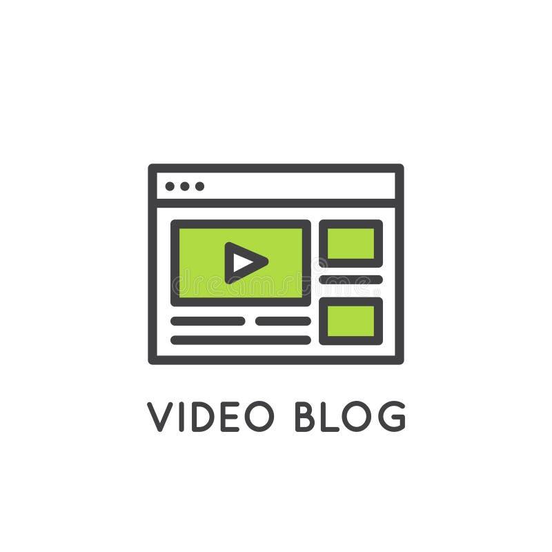 Het video Online Kanaal van Blogging of van Vlogging royalty-vrije illustratie