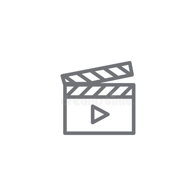 Het videoonderwijs en opleiding - informatie videopictogram/videoknoop stock illustratie