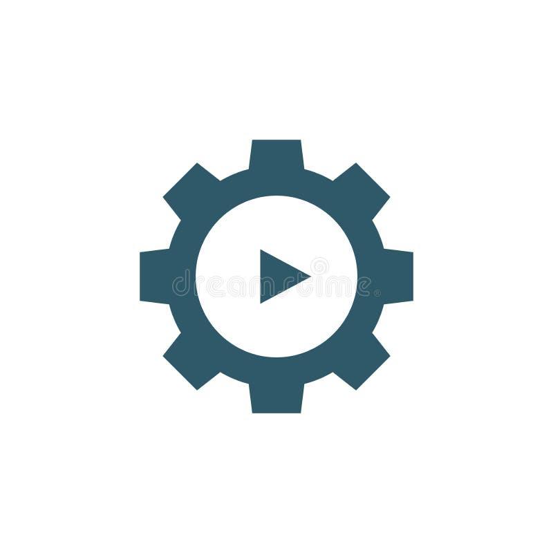 Het videoonderwijs en opleiding - informatie videopictogram/videoknoop vector illustratie