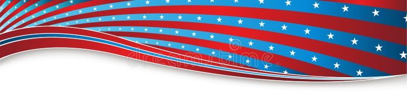 Het Vierde van de Indepedencedag van de Banner van Juli de V.S. royalty-vrije illustratie