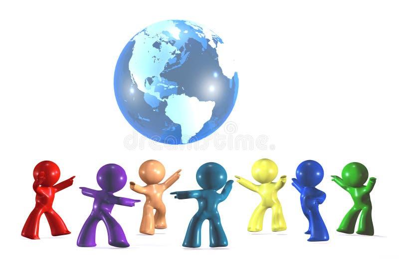 Het vieren diversiteit ter wereld stock illustratie