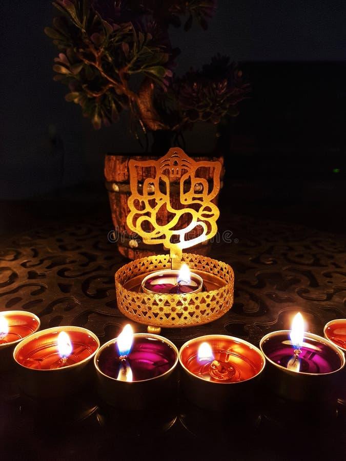 Het vieren Diwali het festival van lichten in India royalty-vrije stock foto's