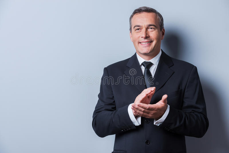 Het vieren succes stock fotografie