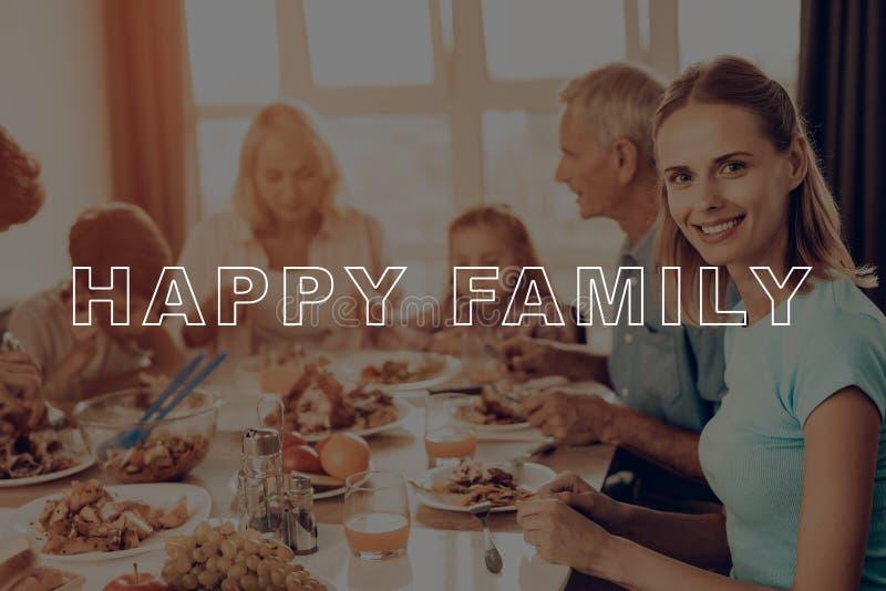 Het vieren vakantie Heb Ventilator vakantie Familie stock afbeeldingen