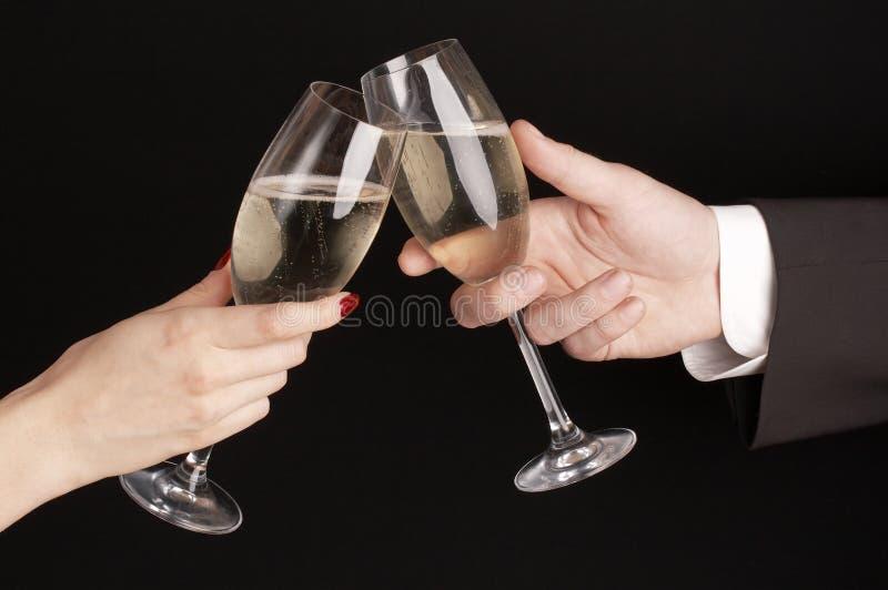 Het vieren van de man en van de vrouw   royalty-vrije stock foto